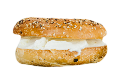 Bagel with cheese cream