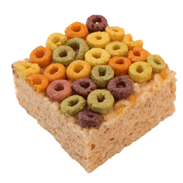 Rice Krispie Treat with Froot Loops